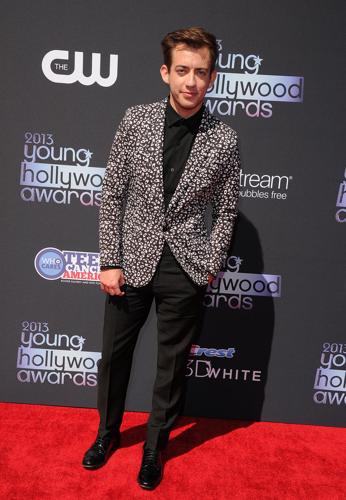 Glee's Kevin McHale hit the Young Hollywood Awards red carpet in a flashy jacket.