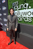 Kit Harington from Game of Thrones received the Actor of the Year Award at the Young Hollywood Awards.