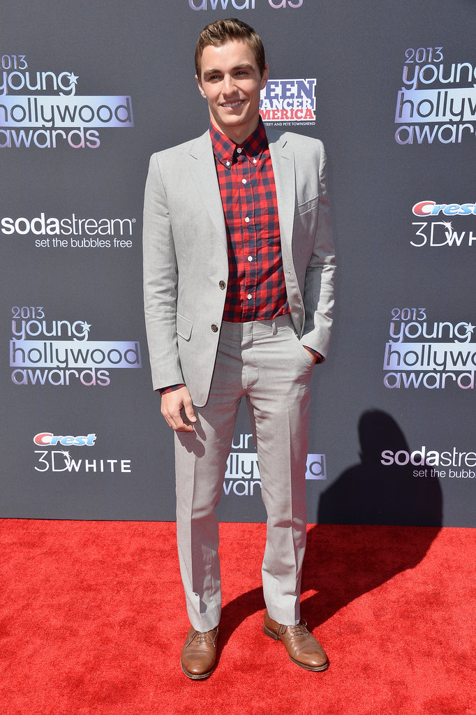 Dave Franco, who won the Fan Favorite Award, smiled while walking the Young Hollywood Awards red carpet.