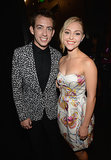 Kevin McHale and AnnaSophia Robb smiled backstage at the Young Hollywood Awards.