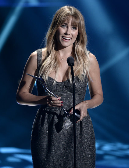Lauren Conrad smiled onstage when she accepted her award.