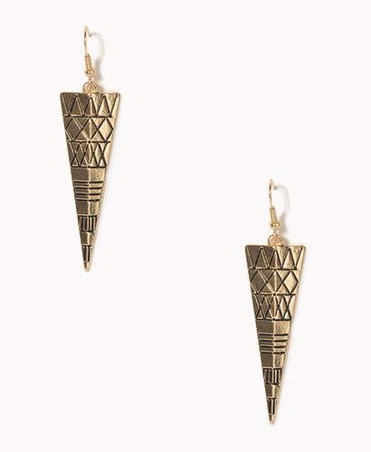 FOREVER 21 Tribal Pattern Earrings
