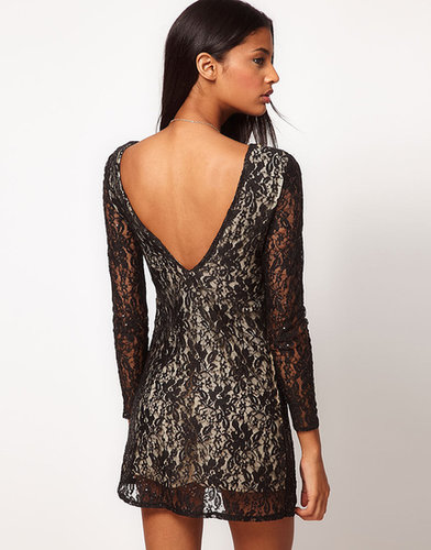 Motel Low Back Bodycon Lace Sequin Dress
