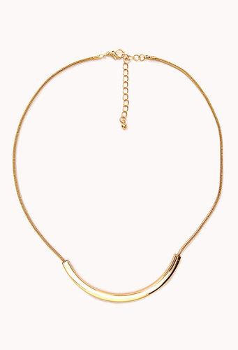 FOREVER 21 Curved Bar Necklace