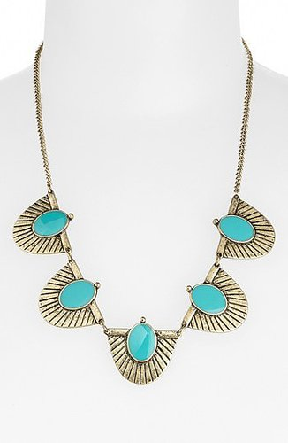 Stephan & Co. 'Aztec' Statement Necklace Gold/ Turquoise