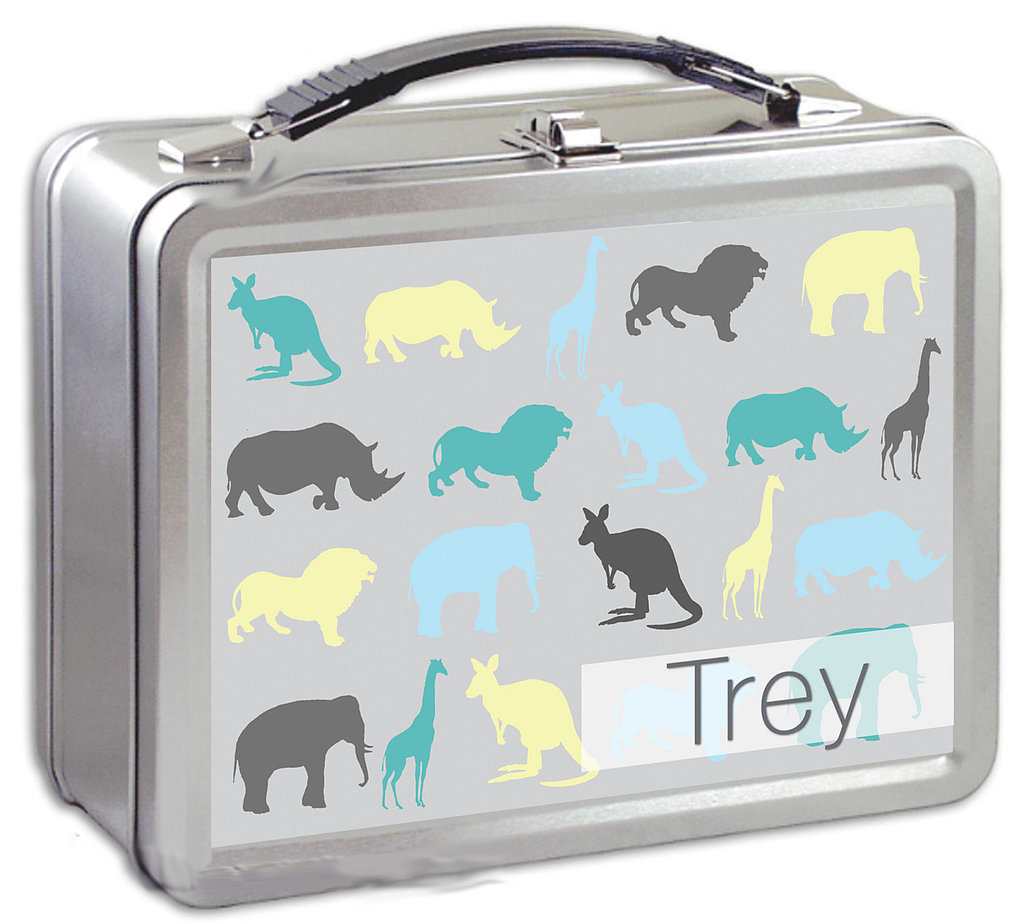 Animals Lunch Box With Chalkboard