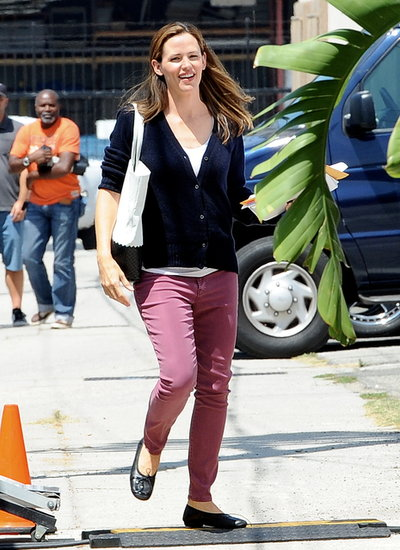 Jennifer Garner arrived on the set of Imagine.