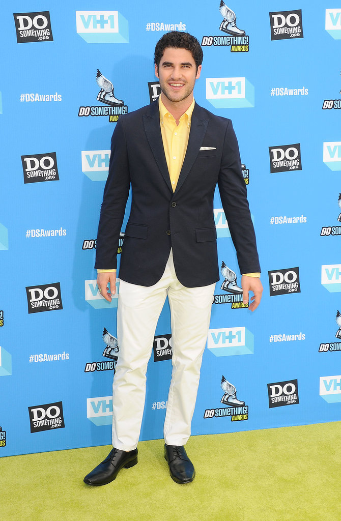 Darren Criss hit the yellow carpet.