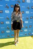Jennifer Hudson wore a leopard-print shirt to the Do Something Awards.