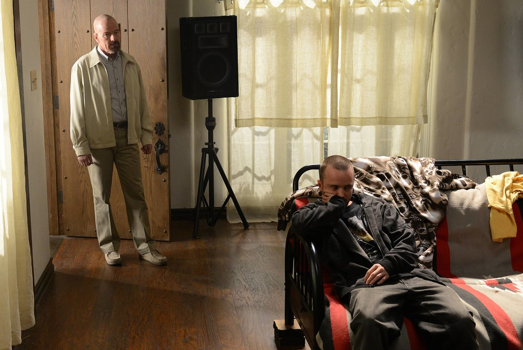 Aaron Paul and Bryan Cranston on Breaking Bad.