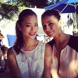 Jamie Chung and Emmanuelle Chriqui caught some sun in the outdoors. Source: Instagram user jamiejchung