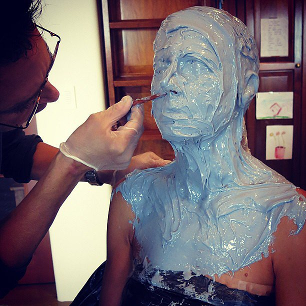 Heidi Klum showed everyone up by prepping for her infamous Halloween costume in July. Source: Instagram user heidiklum