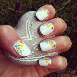 Polka dots are the sweetest (and easiest!) type of nail art. Source: Instagram user mademoizelle_lily