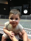 Milan Piqué lent a helping hand to his mama, Shakira, in the recording studio.  Source: Instagram user Shakira