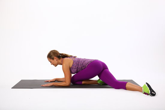 Glute stretches popsugar fitness for Floor yoga stretches