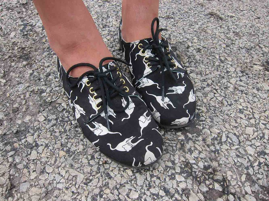 It's hard not to swoon over this pair of feline flats, from BC Footwear.