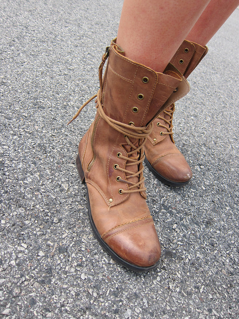 We love the half-laced styling of these Aldo boots, which were the perfect precautionary shoe for a day with rain on the forecast.