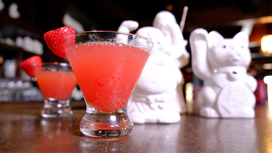 Benihana's Strawberry Saketini