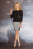 Charlize Theron showcased her gams at a Snow White and Hunstman event in Berlin back in May 2012.