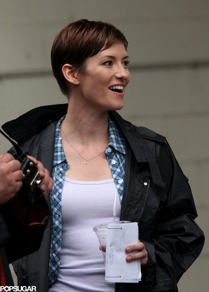 Former Grey's Anatomy star Chyler Leigh worked on a pilot titled Taxi: Brooklyn South in NYC on Thursday.