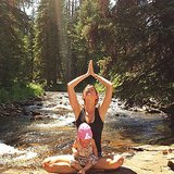 Gisele Bündchen and her daughter Vivian enjoyed some mother-daughter yoga in the sunshine. Source: Instagram user giseleofficial