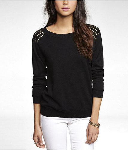 Studded Raglan Sleeve Sweater
