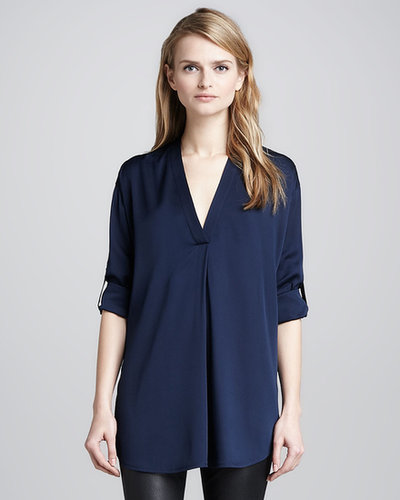 Vince Loose Stretch-Silk Blouse