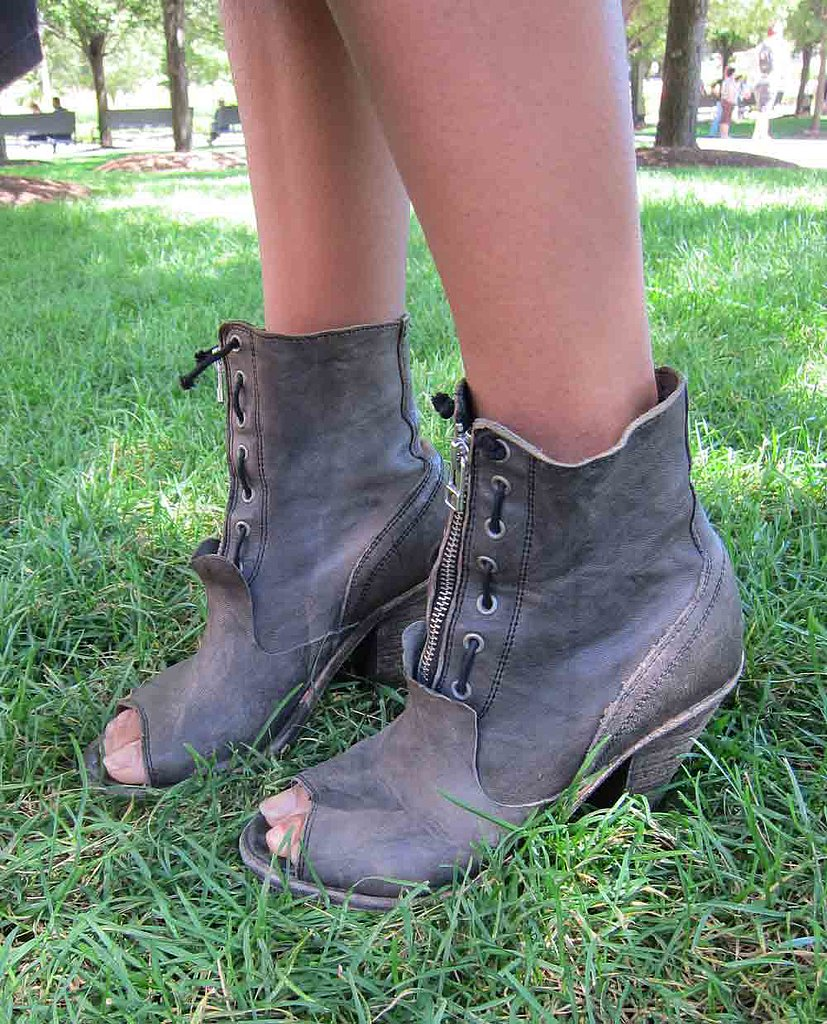 We tend to think these All Saints open-toe boots are the perfect outdoor Summer festival shoe compromise.