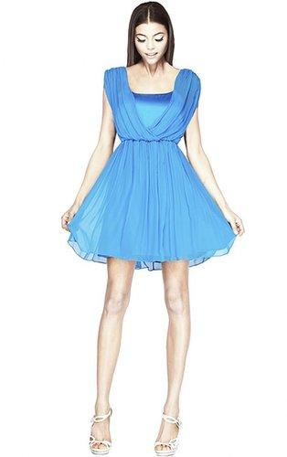 Savannah Sleeveless Cross Top Blouson Dress