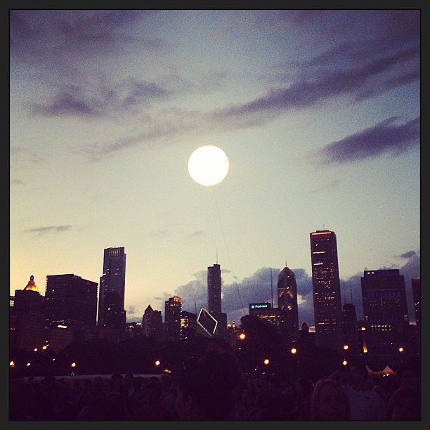 "The ""sun"" sets on another successful festival season. Who needs a moon when you have a giant Lollapalooza balloon?  Source: Instagram user POPSUGARFashion"