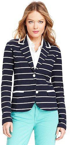 Tommy Hilfiger Women's Knit Stripe Blazer