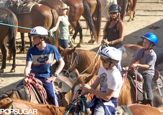 Victoria Beckham hopped on a horse for a horseback riding excursion with her sons in LA.
