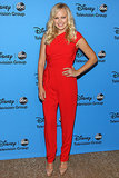 Malin Akerman rocked a fiery red jumpsuit at the Disney and ABC Television Group's TCA tour.