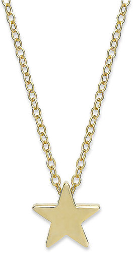 Studio Silver 18k Gold over Sterling Silver Necklace, Star Pendant