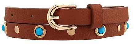 Turquoise Stone Skinny Belt