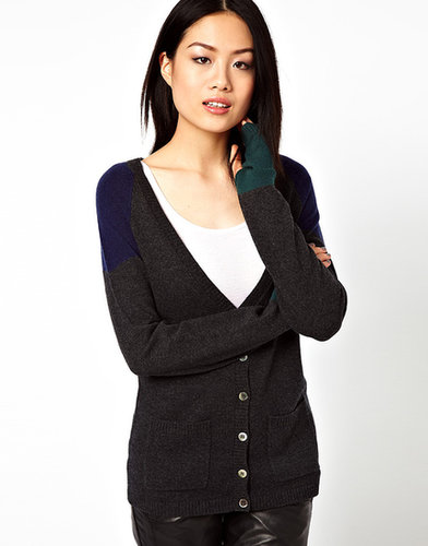Vero Moda Color Block Cardigan With Cashmere
