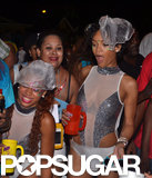 Rihanna partied at the Kadooment Festival in Barbados's capital city, Bridgetown.