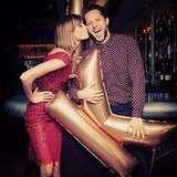 Karlie Kloss gave her pal Derek Blasberg a smooch as they celebrated her 21st birthday. Source: Instagram user karliekloss