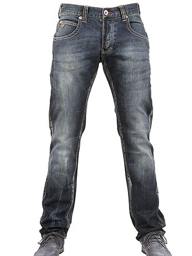 19,5cm Low Waist Stretch Denim Jeans