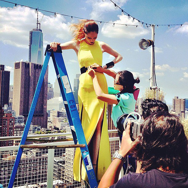 Coco Rocha shared this behind-the-scenes snap from a recent photo shoot in the city. Source: Instagram user cocorocha