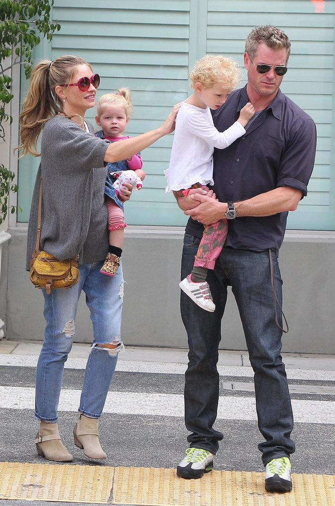 Eric Dane and Rebecca Gayheart had a family day in LA on Saturday.