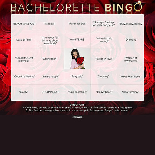 The Bachelorette Bingo Boards