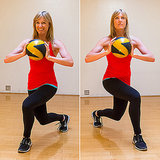 Crossover Lunge With Medicine Ball