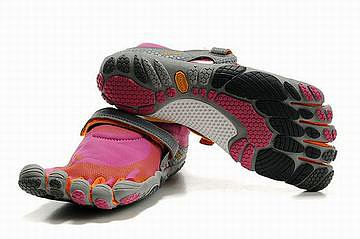 vibram barefoot bikila magenta orange grey women sneakers