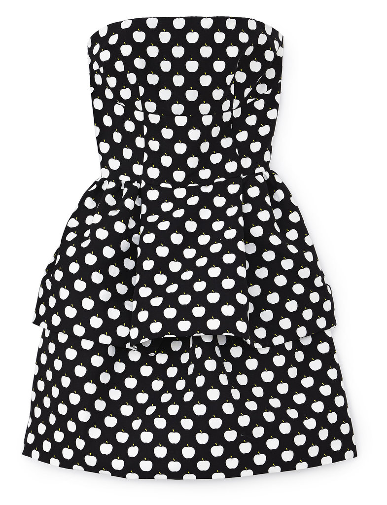 The city's namesake fruit dots this strapless style. Photo courtesy of Kate Spade New York