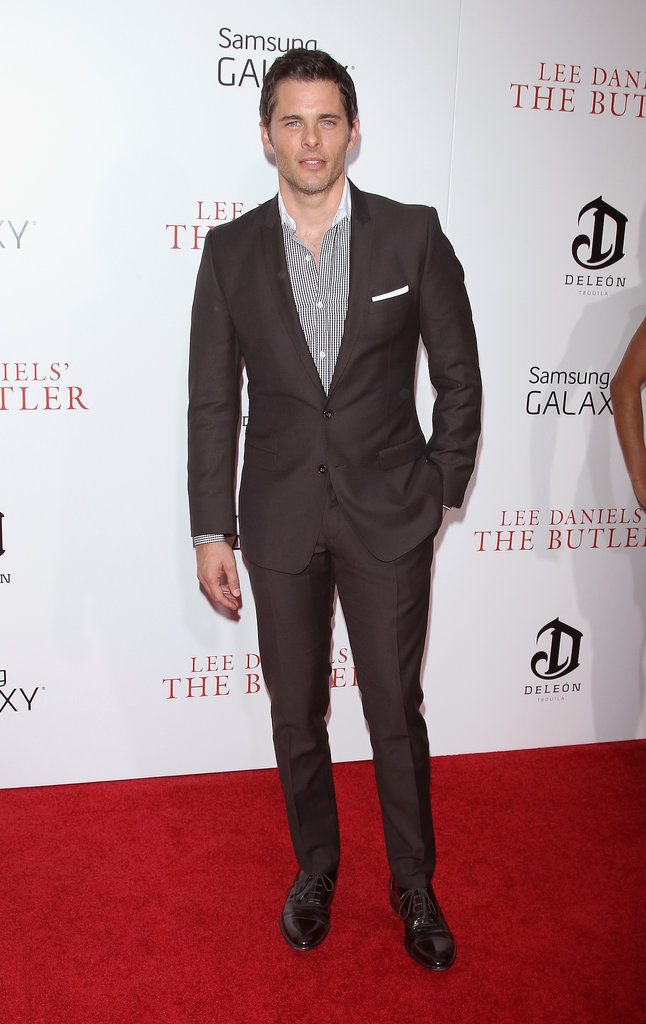 James Marsden kept it simple on the red carpet.