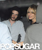 Sienna Miller and Tom Sturridge hailed a cab.