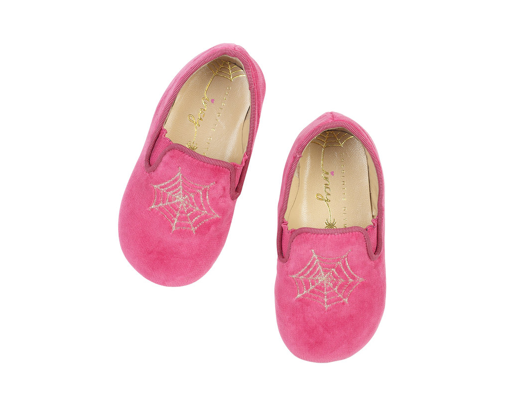 Charlotte Olympia Wincy slip-on shoes ($125) in pink.