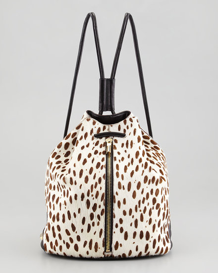 The news that Elizabeth and James was releasing bags was exciting, especially after we spotted this spotted calf hair number ($545).