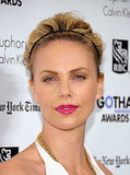 Charlize's headband-and-bouffant hairstyle allowed her hot-pink lips to take center stage at the Gotham Independent Film Awards in 2011.